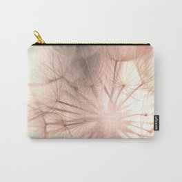 Pink Dandelion Macro Nature Photography Art and Apparel Carry-All Pouch