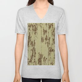 Weathered Wood Paneling 01 Unisex V-Neck