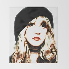 Stevie Nicks - Rhiannon - Pop Art Throw Blanket