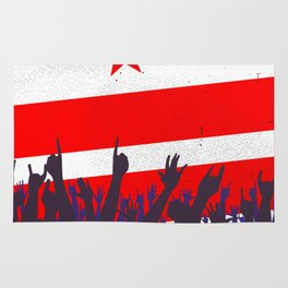 Washington DC Flag with Audience Rug