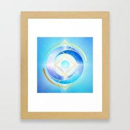 Icy Golden Winter Swirl :: Floating Geometry Framed Art Print