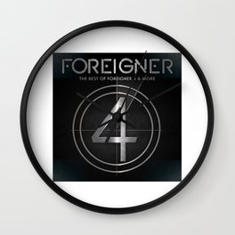 foreigner tour 2017 ty1 Wall Clock