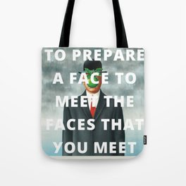 the faces Tote Bag