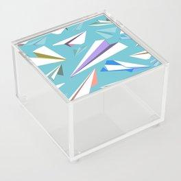 Aeroplanes - Paper Airplanes Pattern Acrylic Box