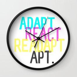 Adapt React Readapt Apt Wall Clock