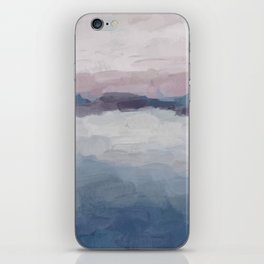 Plum Purple Lavender Blue Abstract Painting Ocean Waves Cloud Horizon, Modern Wall Art, Digital iPhone Skin