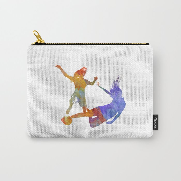 Women soccer players 02 in watercolor Carry-All Pouch