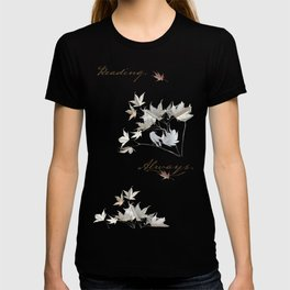 In love with reading - collage of leaves from old book pages T-shirt