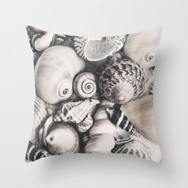 Sea Shell Collection Vintage Style Throw Pillow