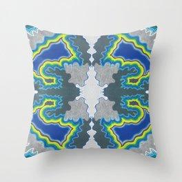 Glacial Kaleidoscope Throw Pillow