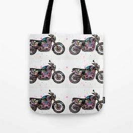 Motorcycle - Bonneville Triumph T100  Tote Bag