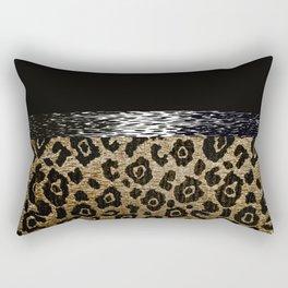 ANIMAL PRINT BLACK AND BROWN Rectangular Pillow