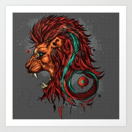 Leo The Lion - Zodiac Sign Art Print