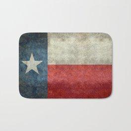 Texas flag, Retro style Vertical Banner Bath Mat