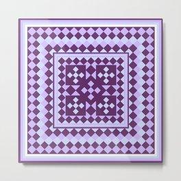 Lavender Patchwork Quilt Metal Print