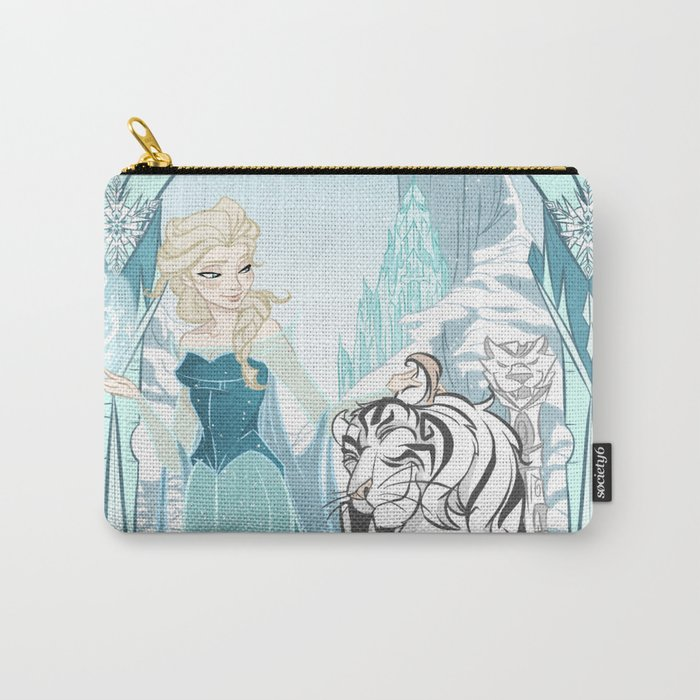 Frozen White Tiger Carry-All Pouch