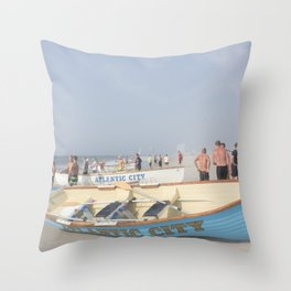 Atlantic City Lifeboats Throw Pillow