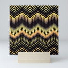 Zigzag Ultra Thin Crochet Texture Pattern Mini Art Print