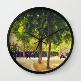 Little Red Vespa in Paris Wall Clock