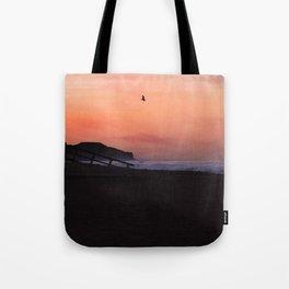 Peach Skies Tote Bag