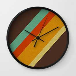 Retro 70s Color Palette Wall Clock