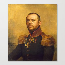 Simon Pegg - replaceface Canvas Print