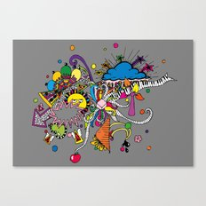 Colored Doodle Canvas Print