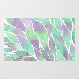 Feathers painting watercolors Rug