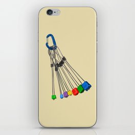 Rock Climbing Wires iPhone Skin