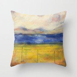 Blue Lake No. 1 Throw Pillow