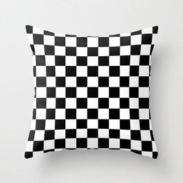 CHECKER PRINT Throw Pillow