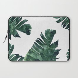 Banana Leaf Watercolor #society6 #buy #decor Laptop Sleeve