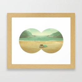 Le temps de l'amour, le temps des copains et de l'aventure. Framed Art Print