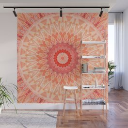 Mandala soft orange Wall Mural