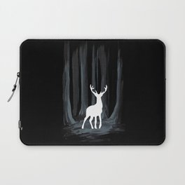 Glowing White Stag Laptop Sleeve