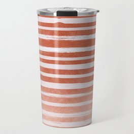 Copper Foil Stripes Travel Mug