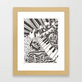 Life, Create, Art, and Music Framed Art Print