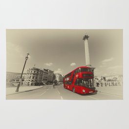 Trafalgar New Bus for London Rug
