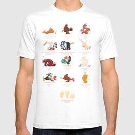 Chicken Yoga T-shirt