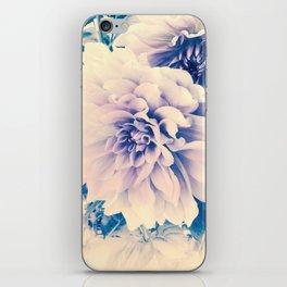 Delicate Beauty (Vintage Blue Lavender Dahlias) iPhone Skin