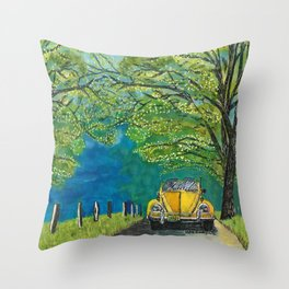 Tennessee Cabriolet Spring Drive Throw Pillow