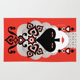 The Queen of spades Rug