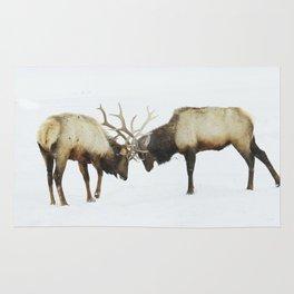 Elk arguments Rug