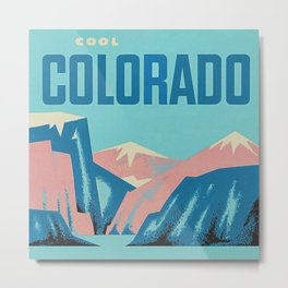 Cool Colorado Retro Vintage Travel Poster Metal Print