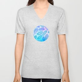 Feathers on Watercolor Background Unisex V-Neck