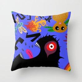 Creechers (Blue Edition) Throw Pillow