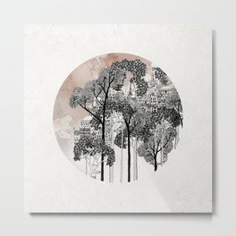 Crux - City in the Trees Metal Print