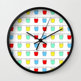 Colorful Sky Gliders Wall Clock