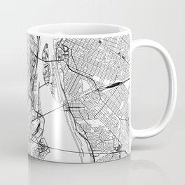Montreal White Map Kaffeebecher