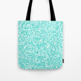 Tiny Spots - White and Turquoise Tote Bag